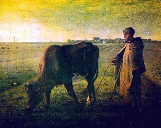 밀레/소 먹이는 여자