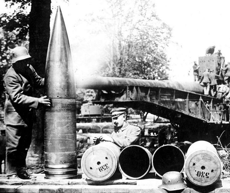 베르됭 전투 당시 독일군의 대구경 380mm 포탄 - Battle of Verdung German Army Heavy Gun 380mm Shell