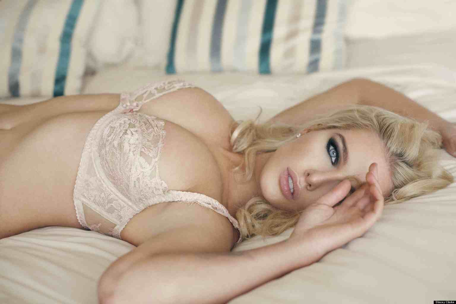 hot glamour in laying bed