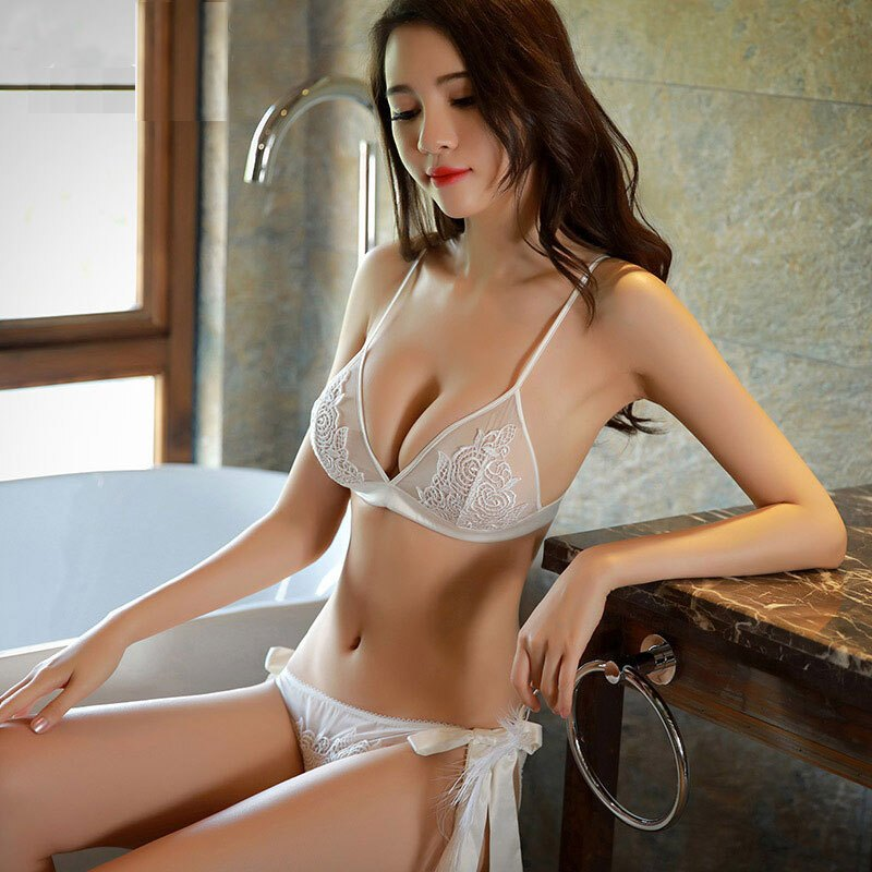 hot Chinese girl in see through lingerie